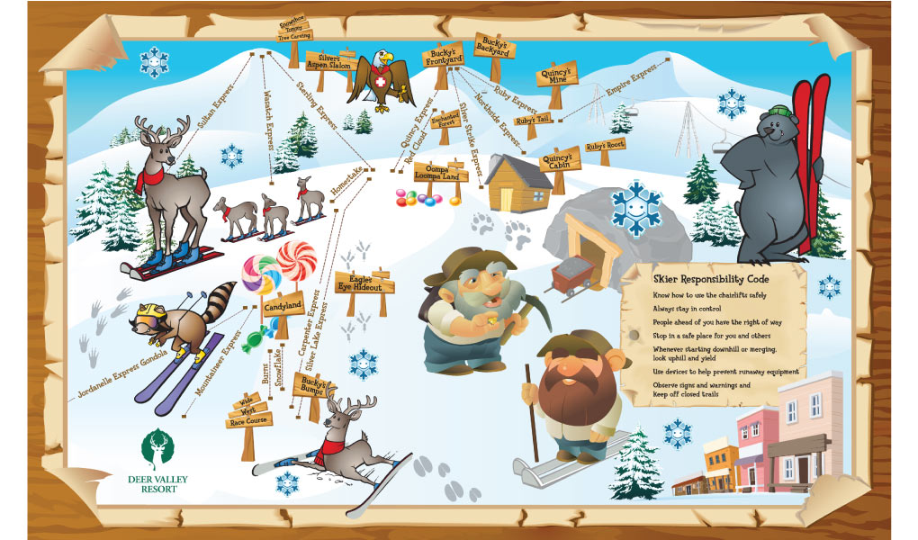 Kid's Trail Map At Deer Valley Resort