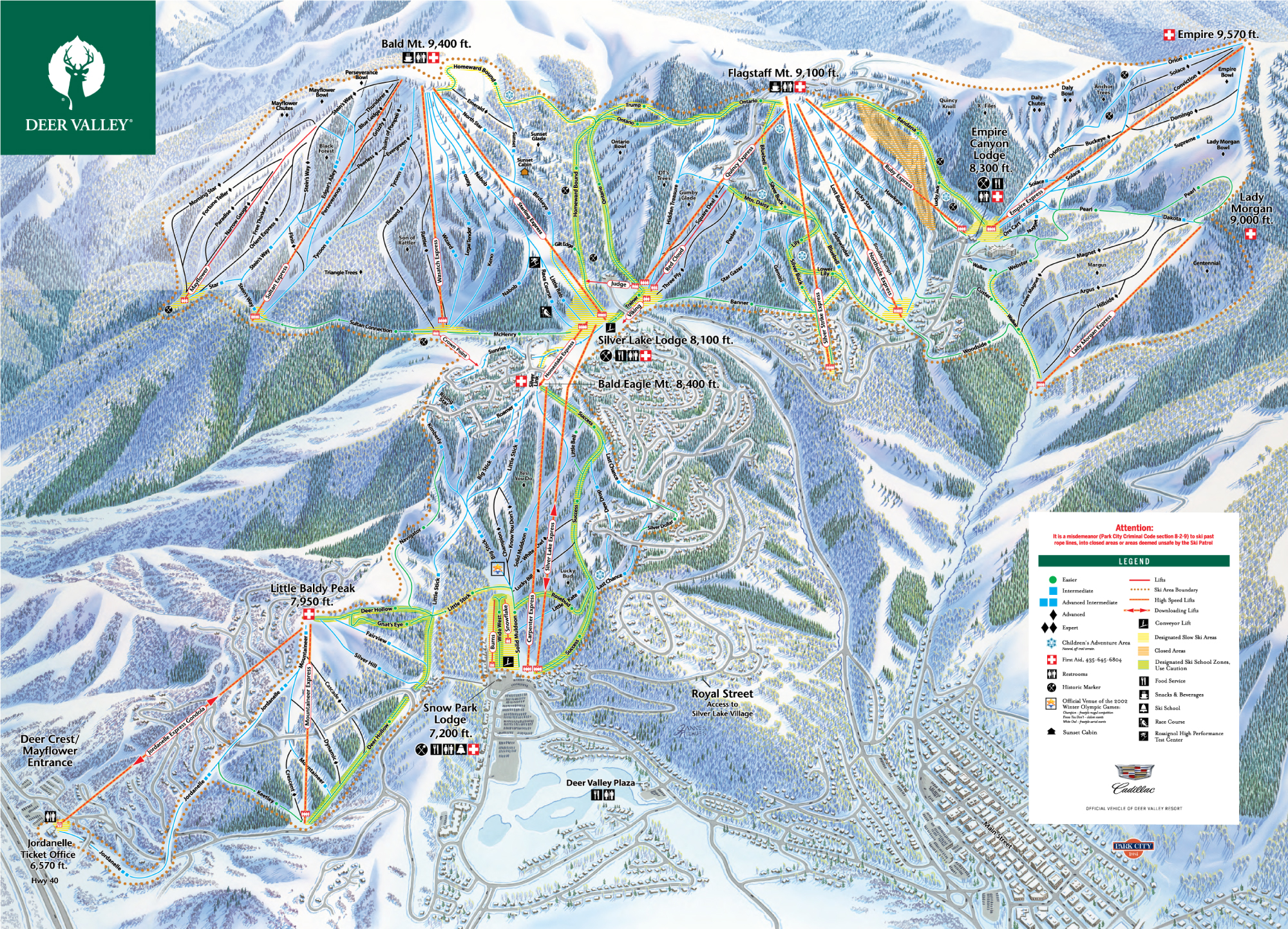 Trail Maps for Each of Utahs 14 Ski Resort Ski Utah
