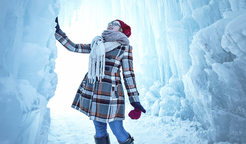 A World Of Ice Caves, Frozen Waterfalls & Caverns, The Midway Ice Castles