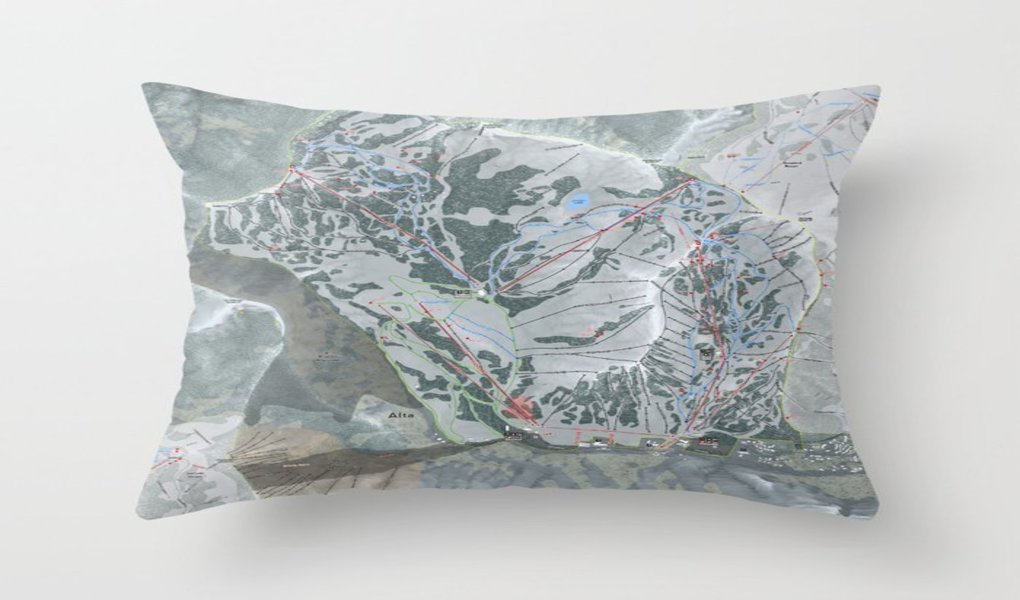 Alta Trail Map Pillow