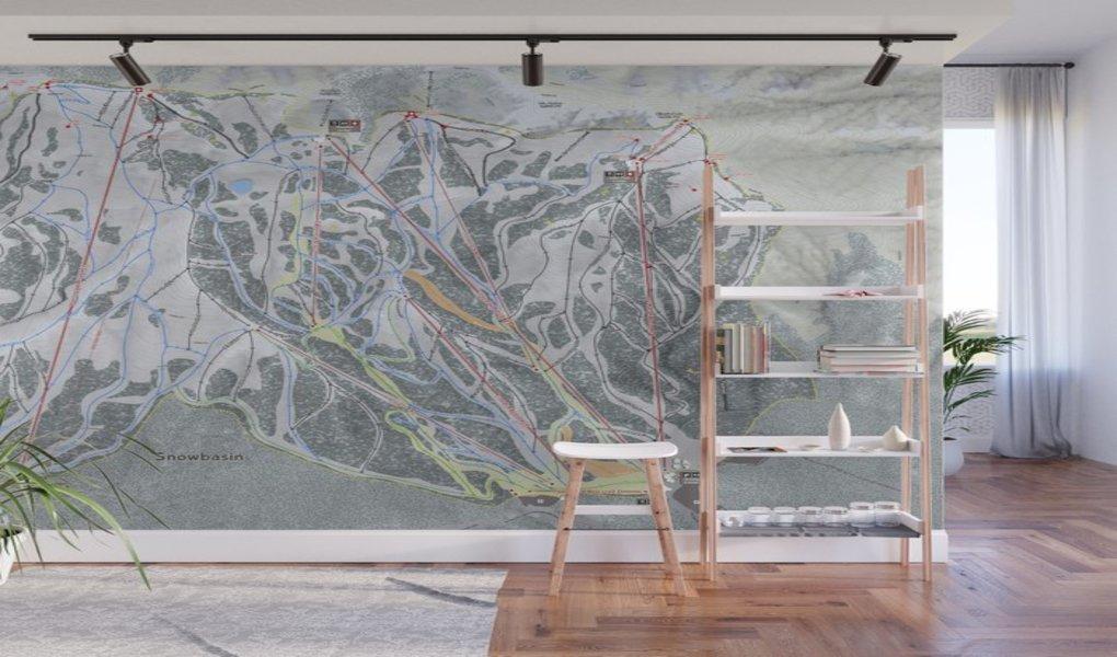 Snowbasin Wall Mural
