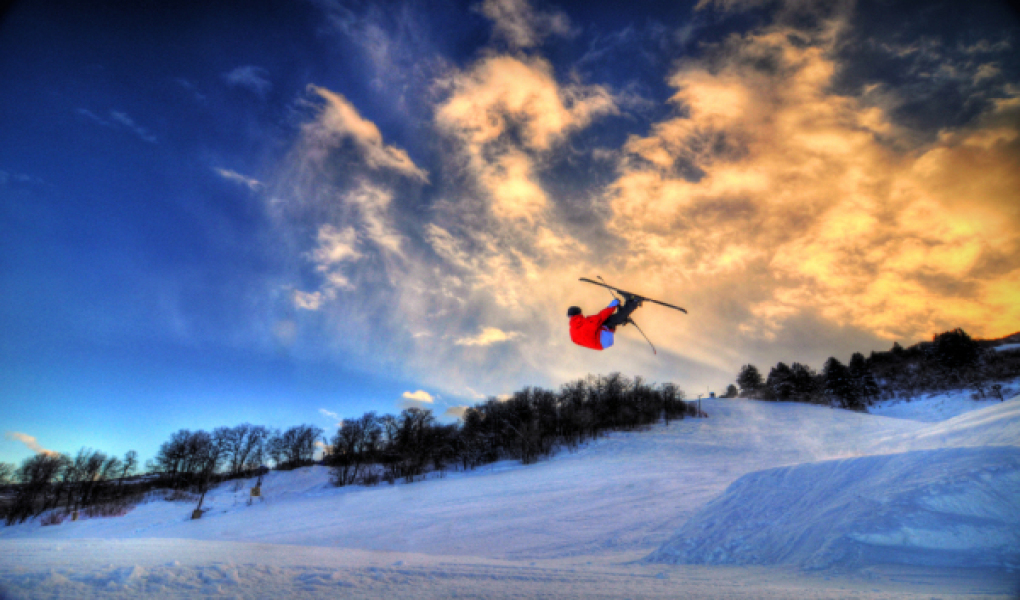 Sunset Skiing