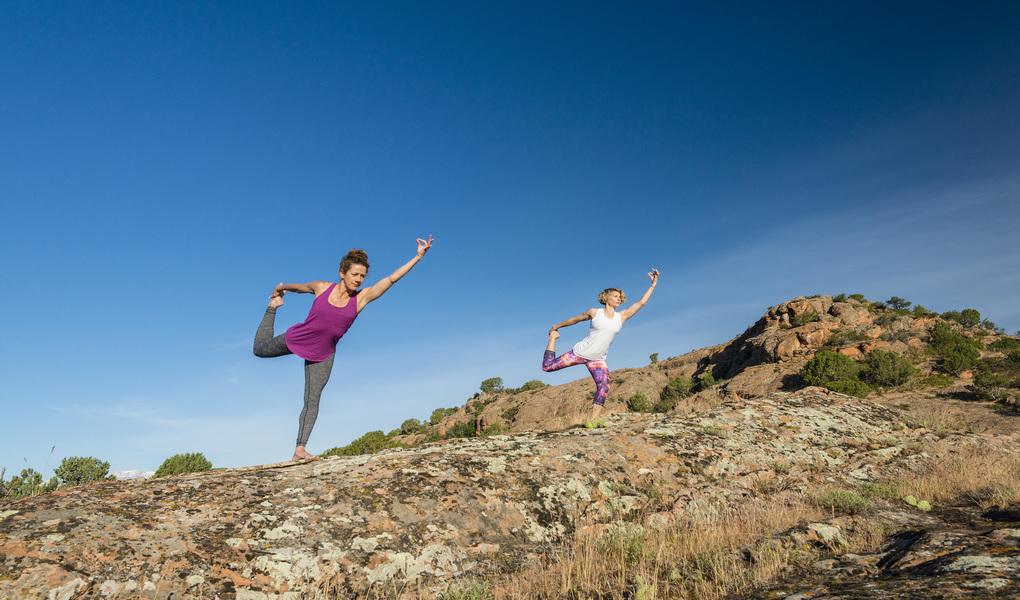 Yoga on Red Rocks