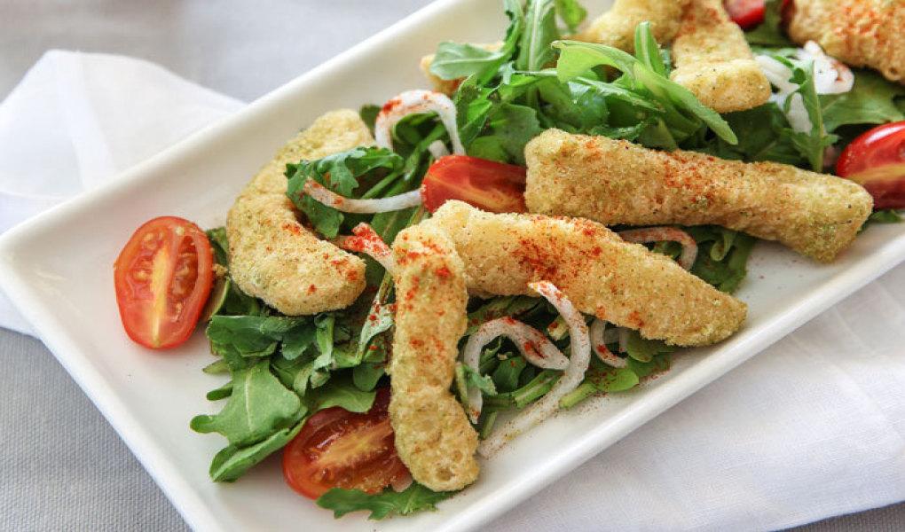 Tomatillo and Jalapeno Crusted Calamari Frito
