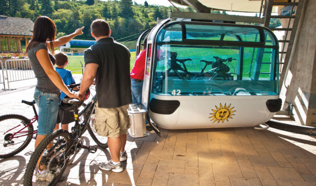 Gondola Lifts with Mountain Bikes