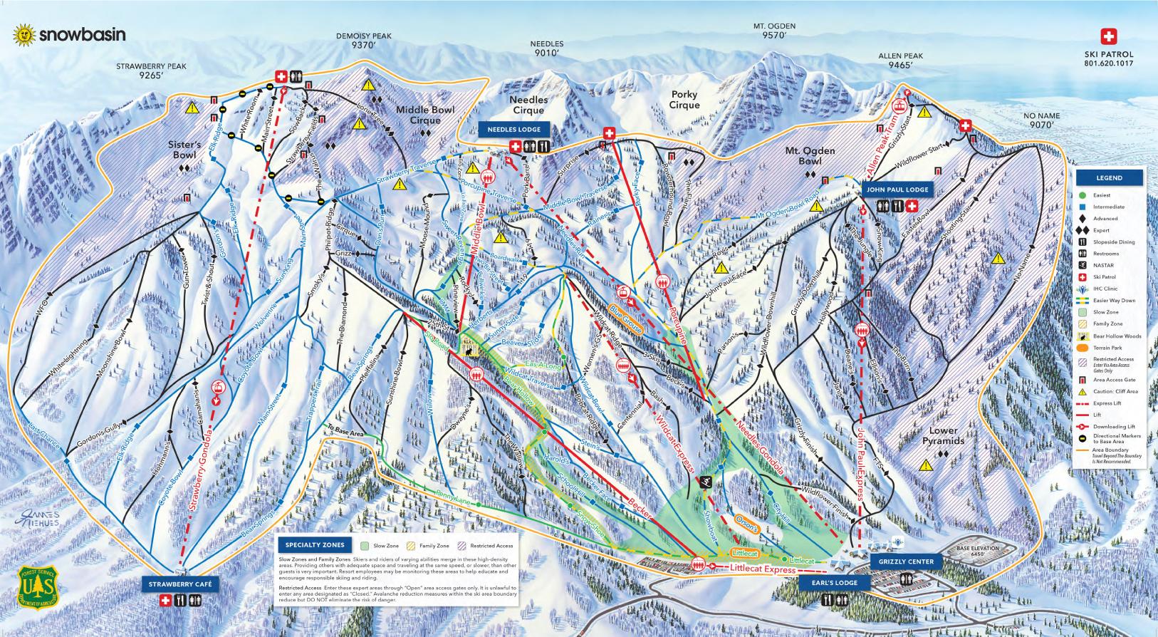 Trail Maps for Each of Utahs 14 Ski Resort Ski Utah