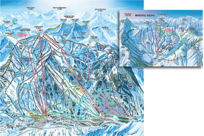 Snowbird Resort Trail Map
