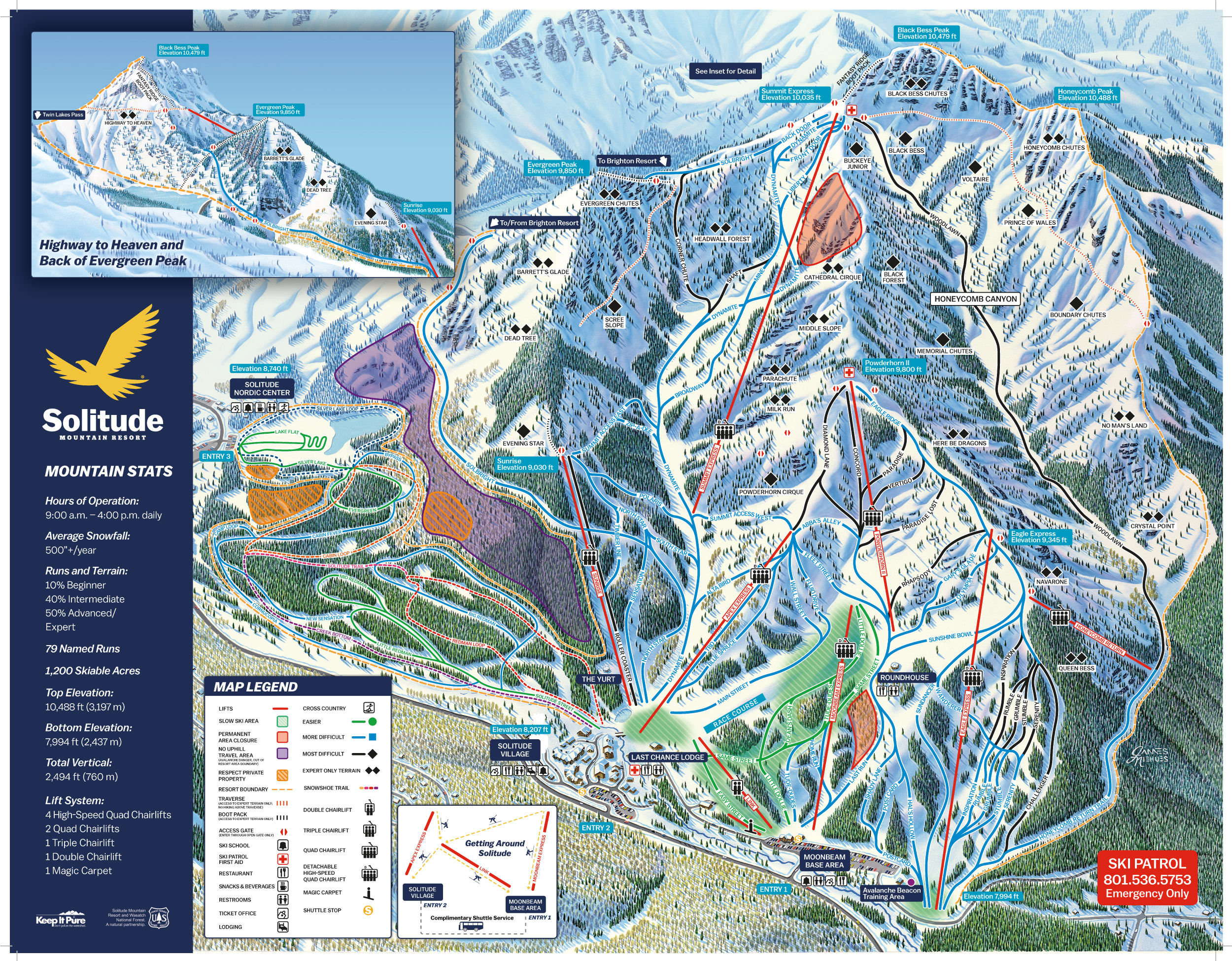 Trail Maps For Each Of Utahs Ski Resort Ski Utah - Brighton utah us map