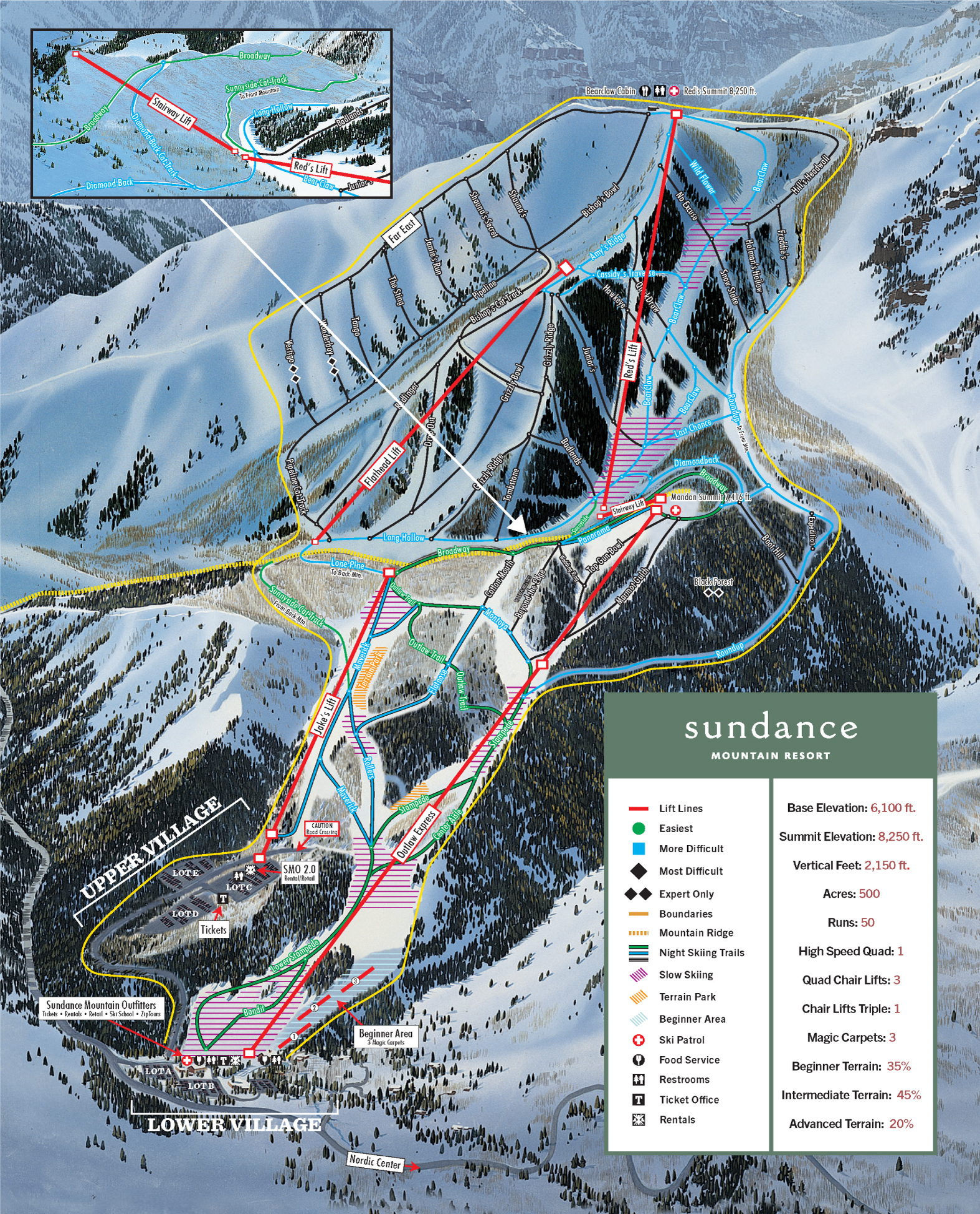 Sundance Ski Resort Map Weather Information Ski Utah