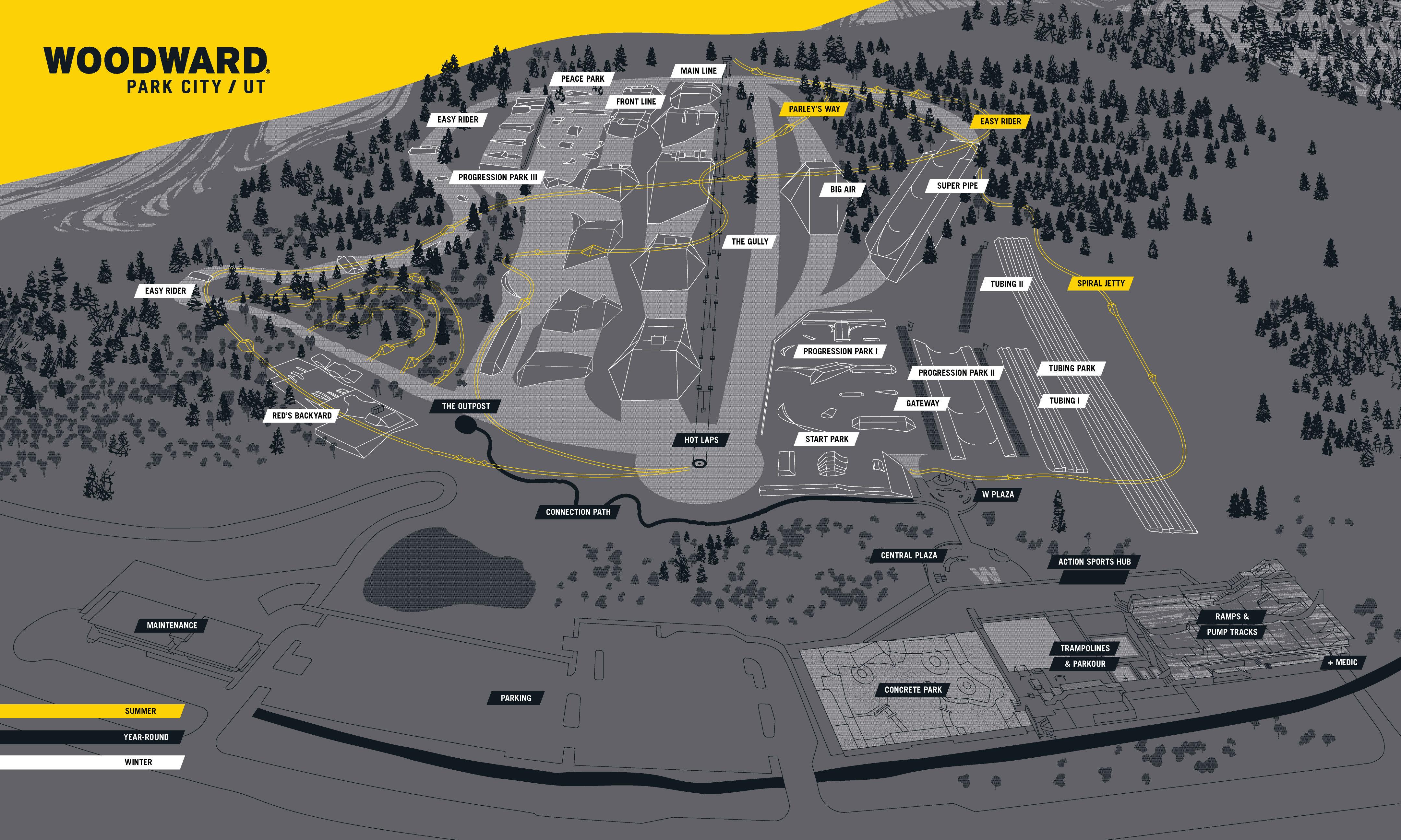 Woodward Trail Map