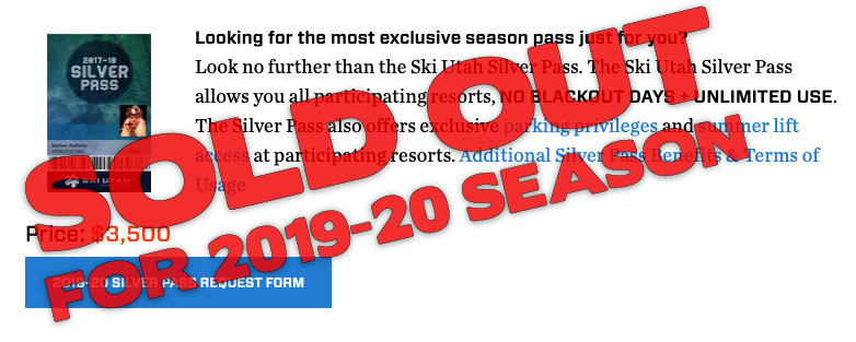 Silver Pass Sold Out 2019-20