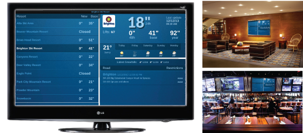 Ski Utah Snow Report TV Display